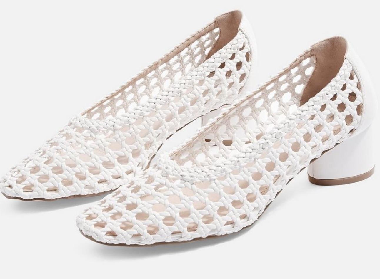 Topshop Raffia White Shoes