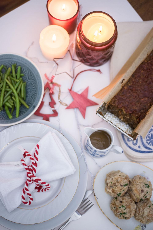 vegan christmas dinner menue