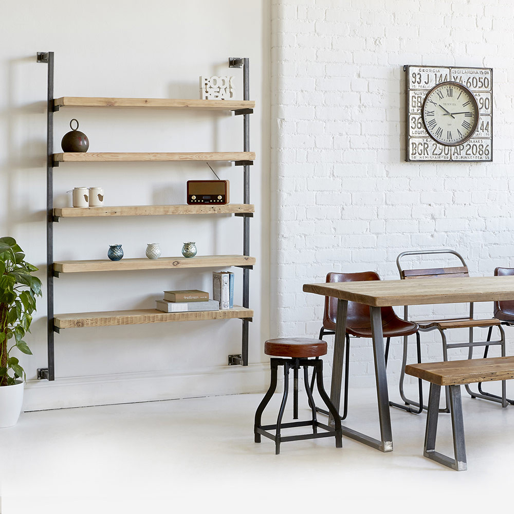 Industrial Wall Mounted Shelving Unit Heyl Interiors