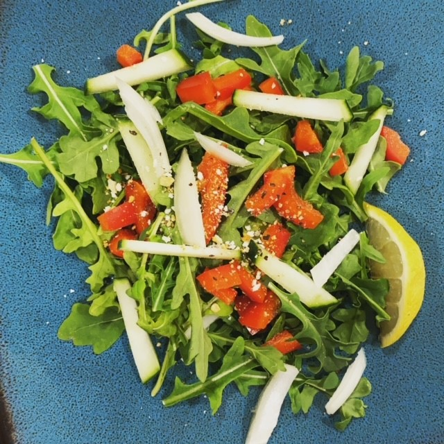 This is what your Arugula Pepper Side Salad should look like