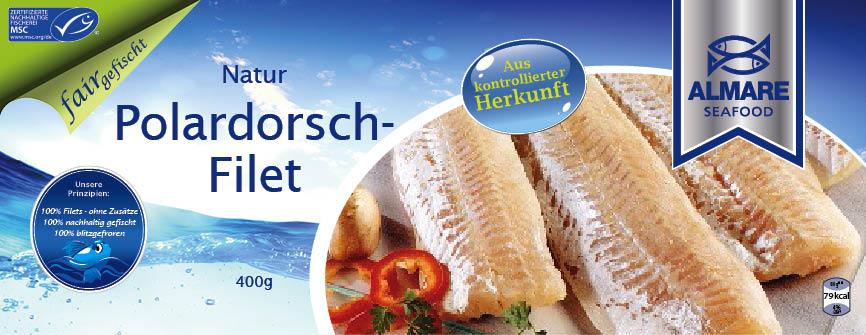 Packungsgestaltung Hofer Polardorsch-Filet
