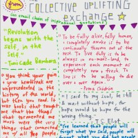 Some great quotes from the collective uplifting exchange