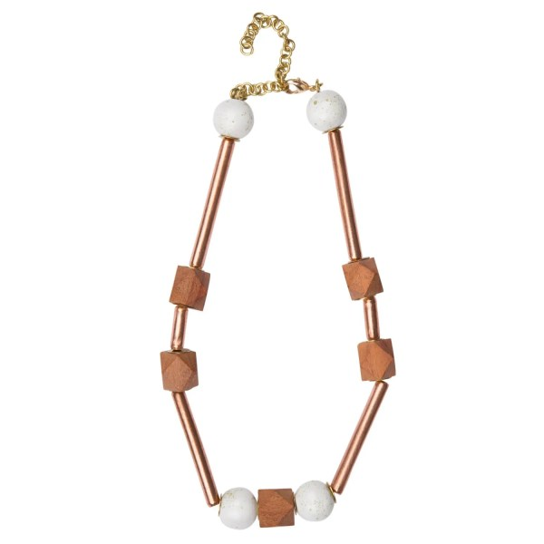 Copper & Clay Necklace