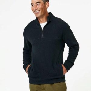 Men's Charcoal Heather 1/4 Zip Pullover XL