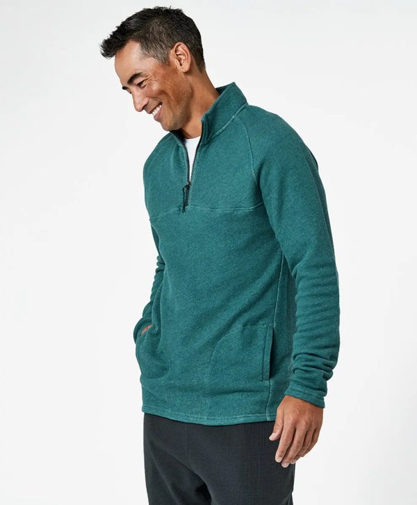 Men's Mallard Heather 1/4 Zip Pullover L