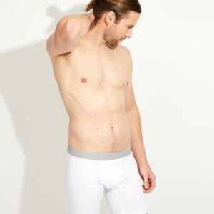 Men's White Extended Boxer Brief M