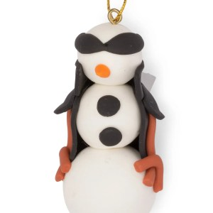 White And Black Bread Dough Ornament - One Cool Dude Ornament