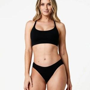 Women's Black Classic Fit Bikini XS