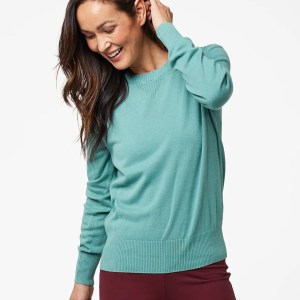 Women's Blue Spruce Sweater Sweatshirt S