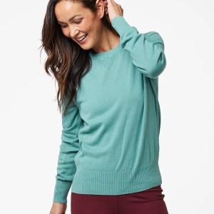 Women's Blue Spruce Sweater Sweatshirt XS