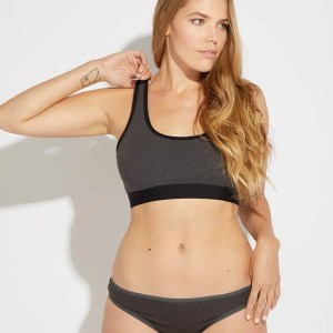 Women's Charcoal Heather Classic Fit Bikini XS
