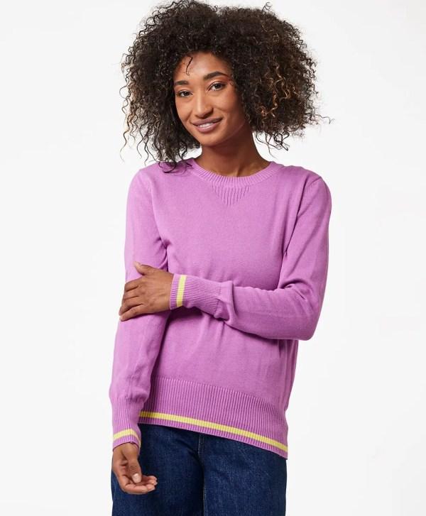 Women's Orchid/Limeade Pop Sweater Sweatshirt M