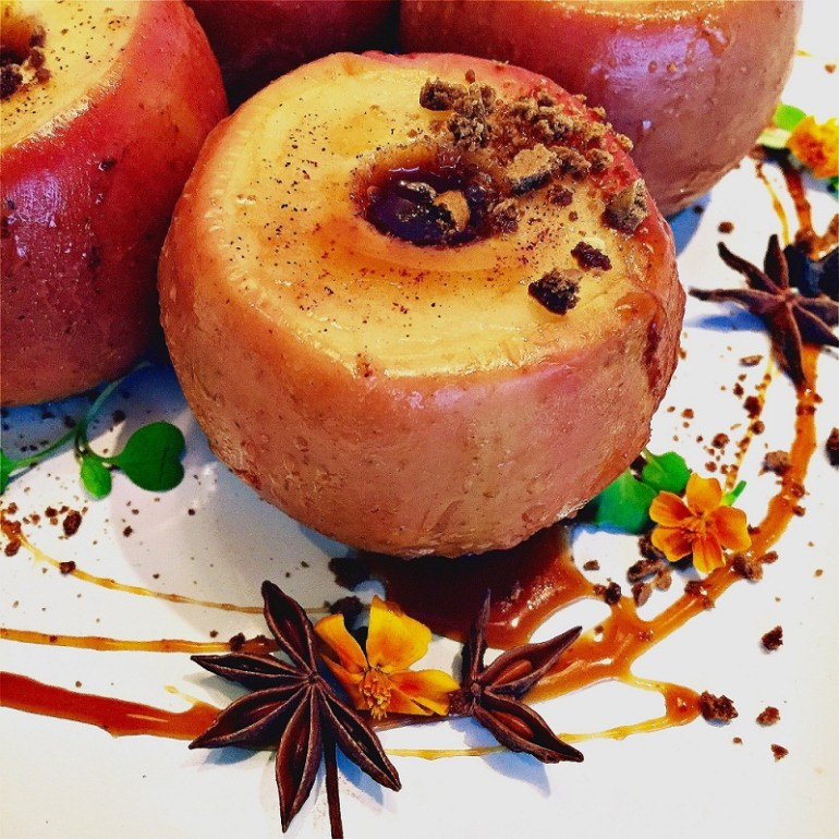 Caramel Filled Baked Apples