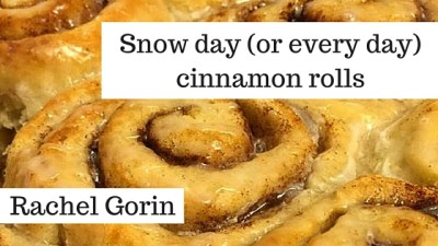 Snow day (or every day) cinnamon rolls