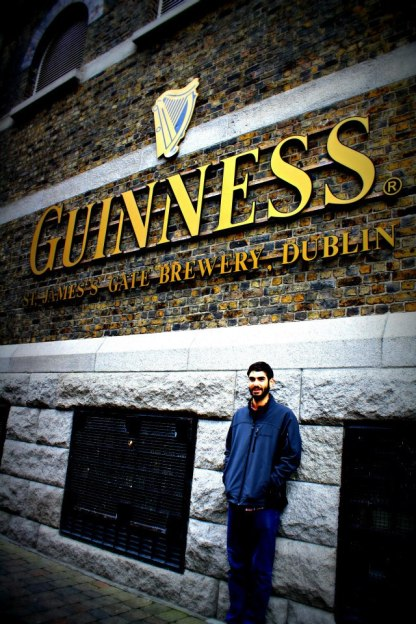 Jeremy at the Guinness Factory gates in Dublin, Ireland.
