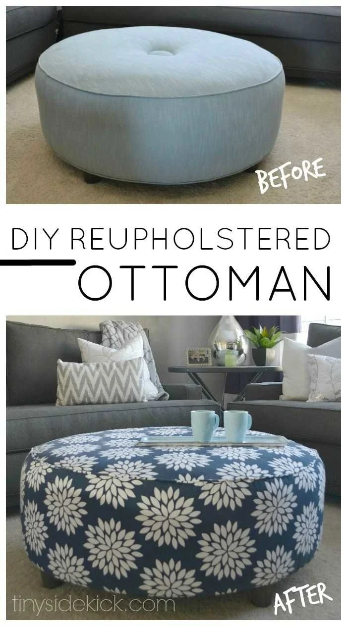 How to reupholster an ottoman