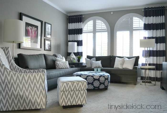 Bold And Bright Living Room Makeover