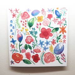 Multi Coloured Floral Blank Handmade Greeting Card