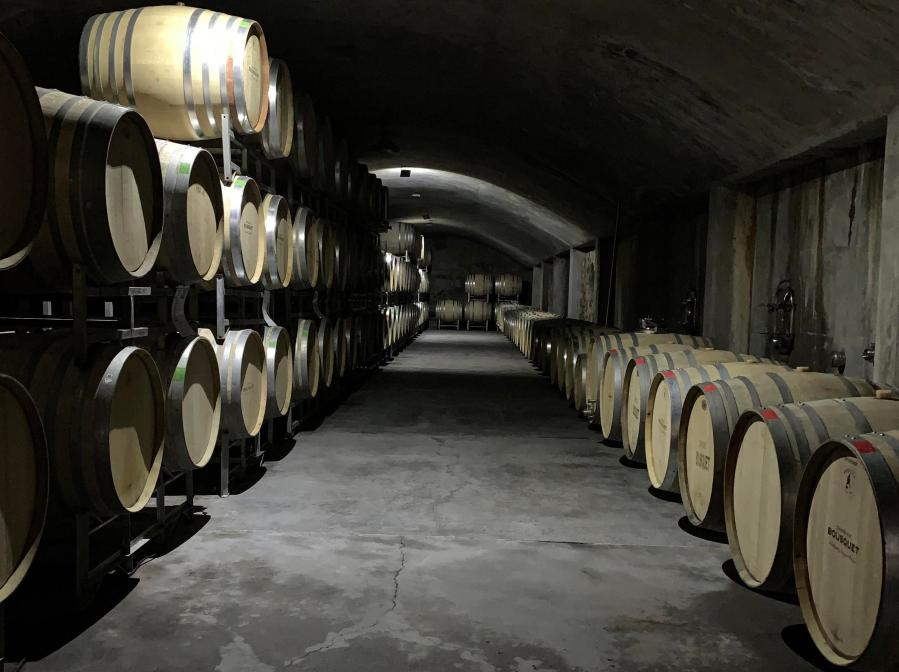 Domaine Bousquet barrel room.