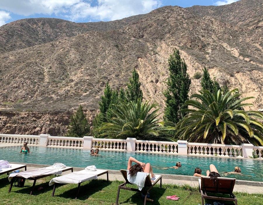 pool views at Termas Cacheuta spa