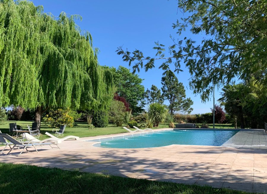 Sparkling swimming pool at Finca la Azul in the Uco Valley