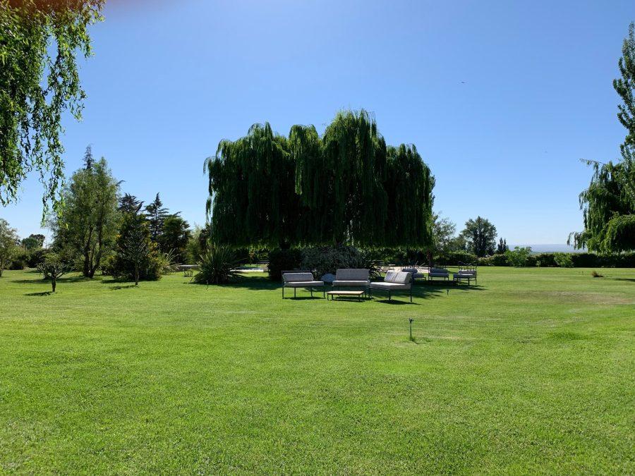 Lush grounds at Finca la Azul