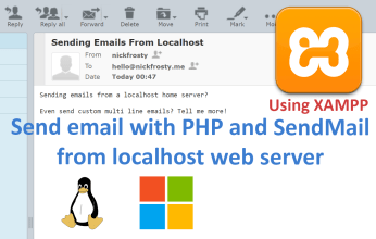 Send HTML emails with php from localhost with SendMail
