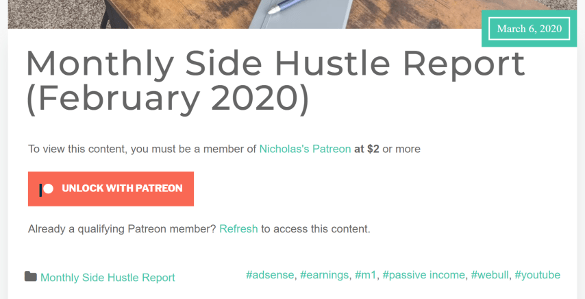 Add Patreon to Your WordPress Website - 8. patreon only blog posts