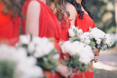 Cherry Red Black And Ivory Rustic Chic Wedding From