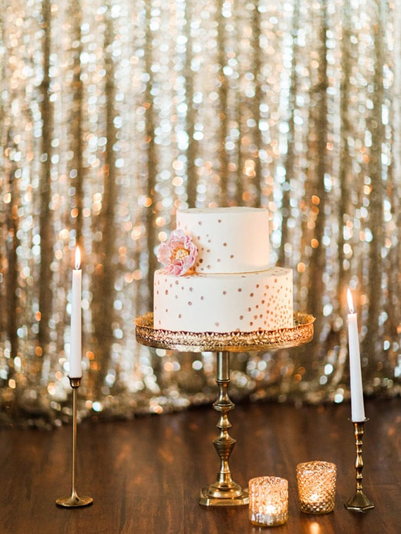 Retro Meets Modern Wedding Inspiration for New Years  Hey