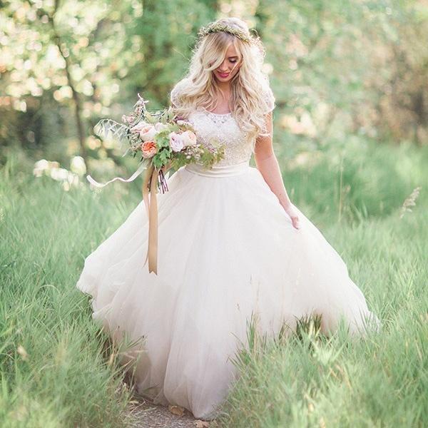 Blush And Rose Gold Woodland Wedding Shoot Hey Wedding Lady
