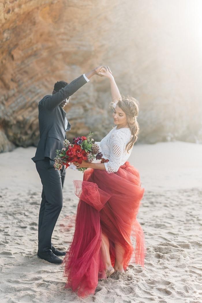 Bold Bohemian Beach Wedding Shoot  Hey Wedding Lady