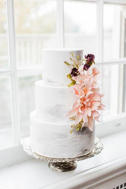 Blush And Mauve Wedding Inspiration In A Rainy Garden