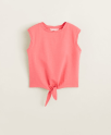 sélection shopping sans se ruiner tee-shirt coton noeud Mango