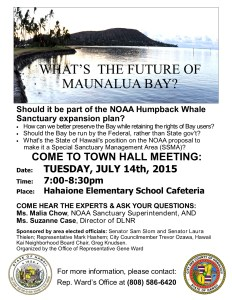 Maunalua Town Hall Meeting Flyer