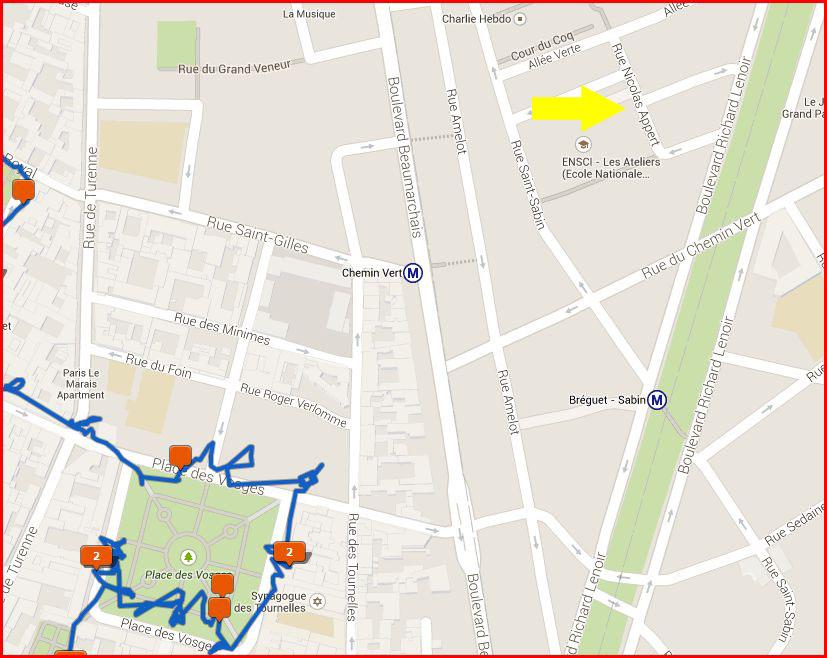 Kaart Marais