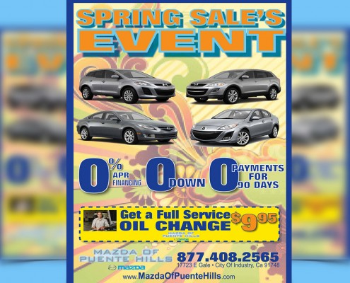 automotive flyer graphic design