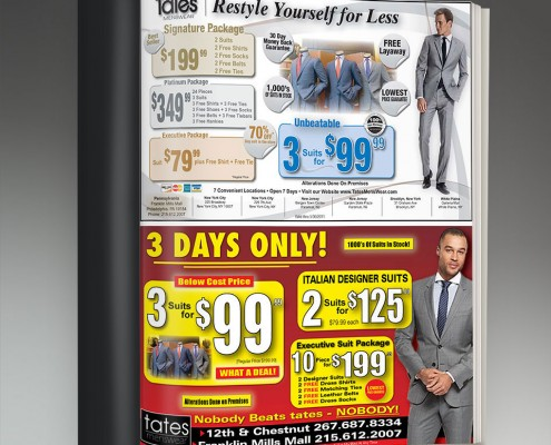 retail advertisements graphic design services