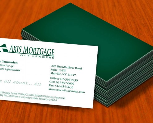 mortgage business card graphic design