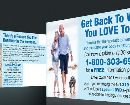 Postcard Marketing Laser Therapy