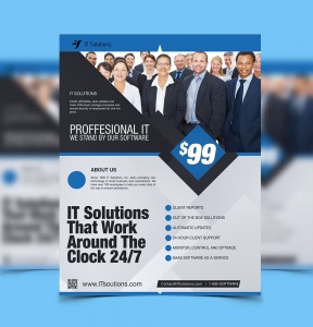 Advertising Flyer Design IT Software