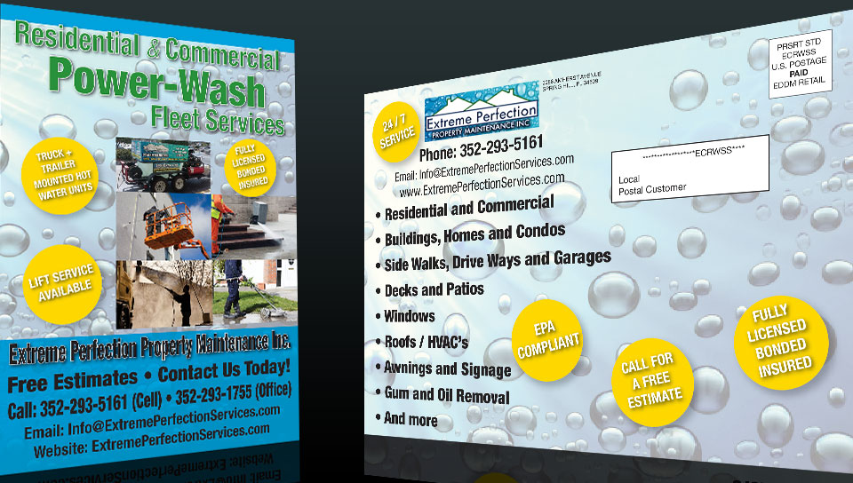 Postcard Design and Marketing Power Washing