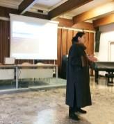 Η Διευθύντρια του Ελληνικού Ιδρύματος Πολιτισμού Ιταλίας, κα Αλίκη Κεφαλογιάννη, κατά τη διάρκεια της ομιλίας της στο Λύκειο «Petrarca», την ημέρα έναρξης των εκδηλώσεων.