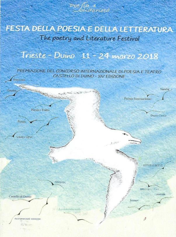 """Concorso di Poesia """"Castello di Duino"""", Trieste, 11-24 marzo 2018."""
