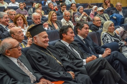 The audience, with Consul Kapodistrias in the first row.