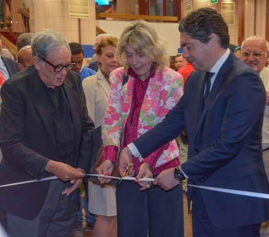The exhibition is opened by Drs. Zafeiropoulou and Awad and Consul Kapodistrias.