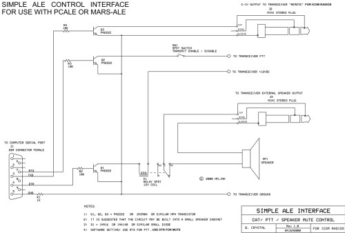 small resolution of simple ale interface schematic simple ale interface parts list j1 db9 connector female