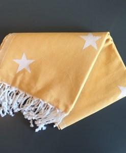 Stars_Turkish_Towel_HforHammam_Jacquard_Mustard