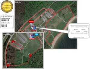 Caesar Creek Kidz Run and Bike maps