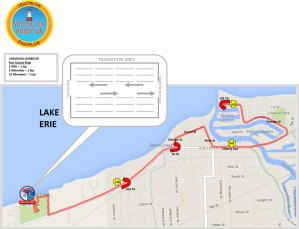 FIT Family Series Vermilion Harbour - Run course map